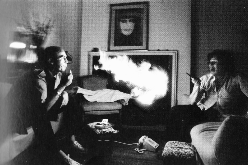 Hunter S. Thompson and Jann Wenner (via    Marshall Matlock   )