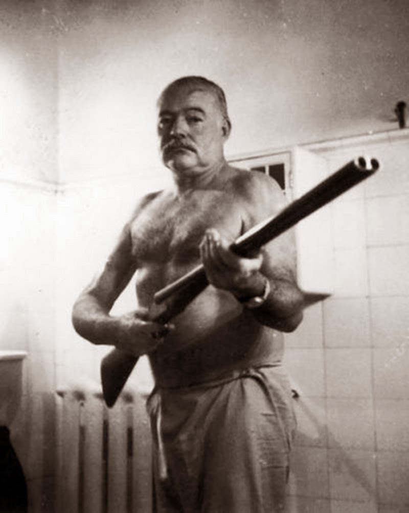 Ernest Hemingway (via    Murder is Everywhere   )
