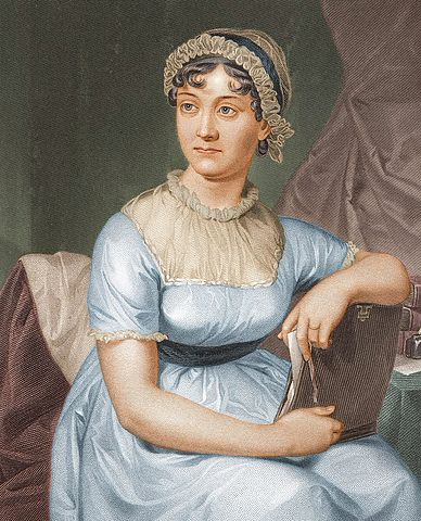 Jane Austen (via    Wikimedia Commons   )