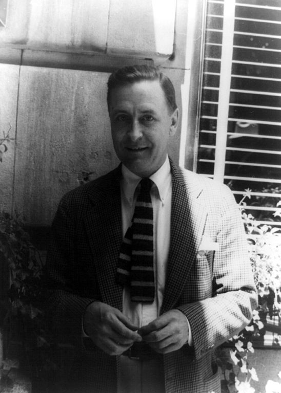F. Scott Fitzgerald (via    Wikimedia Commons   )