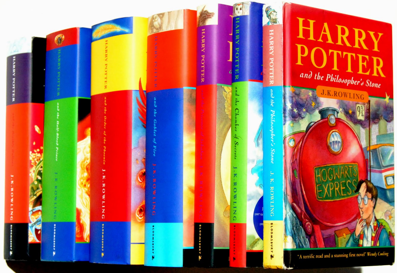 All seven Harry Potter books by J. K. Rowling (via  Q International School Blog   )
