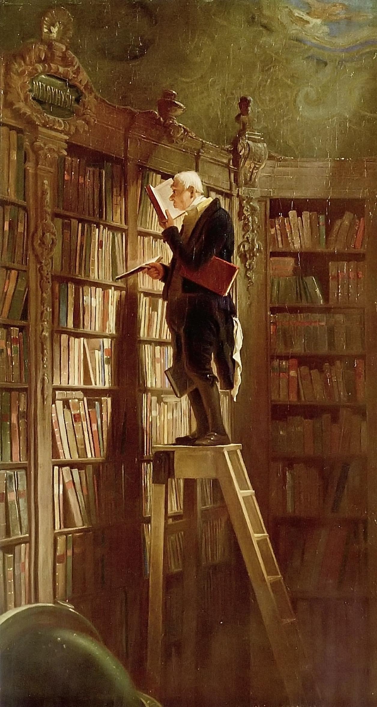 """The Bookworm"" by Carl Spitzweg (via    Wikipedia   )"