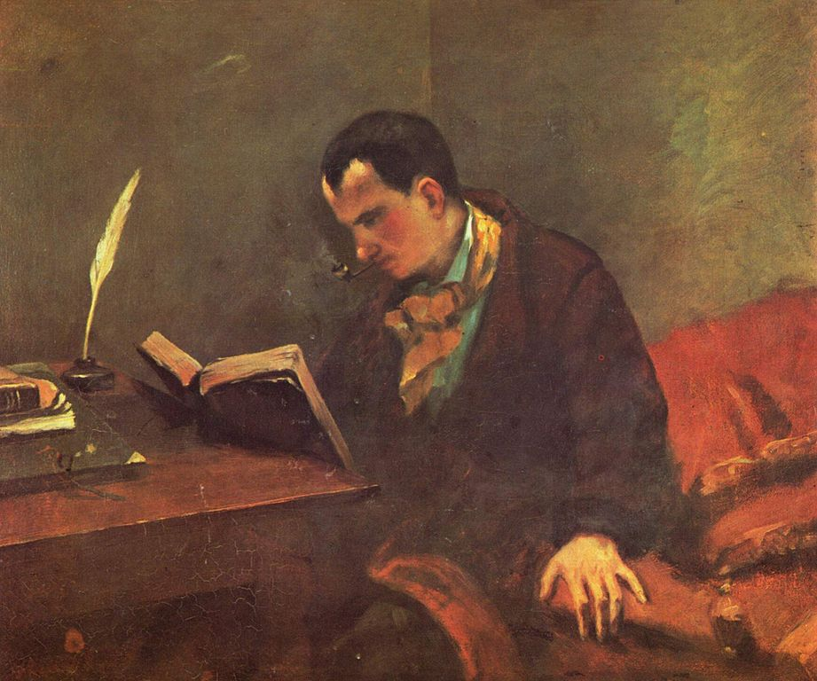 Painting of Charles Baudelaire by Gustave Courbet (via    Wikimedia Commons   )