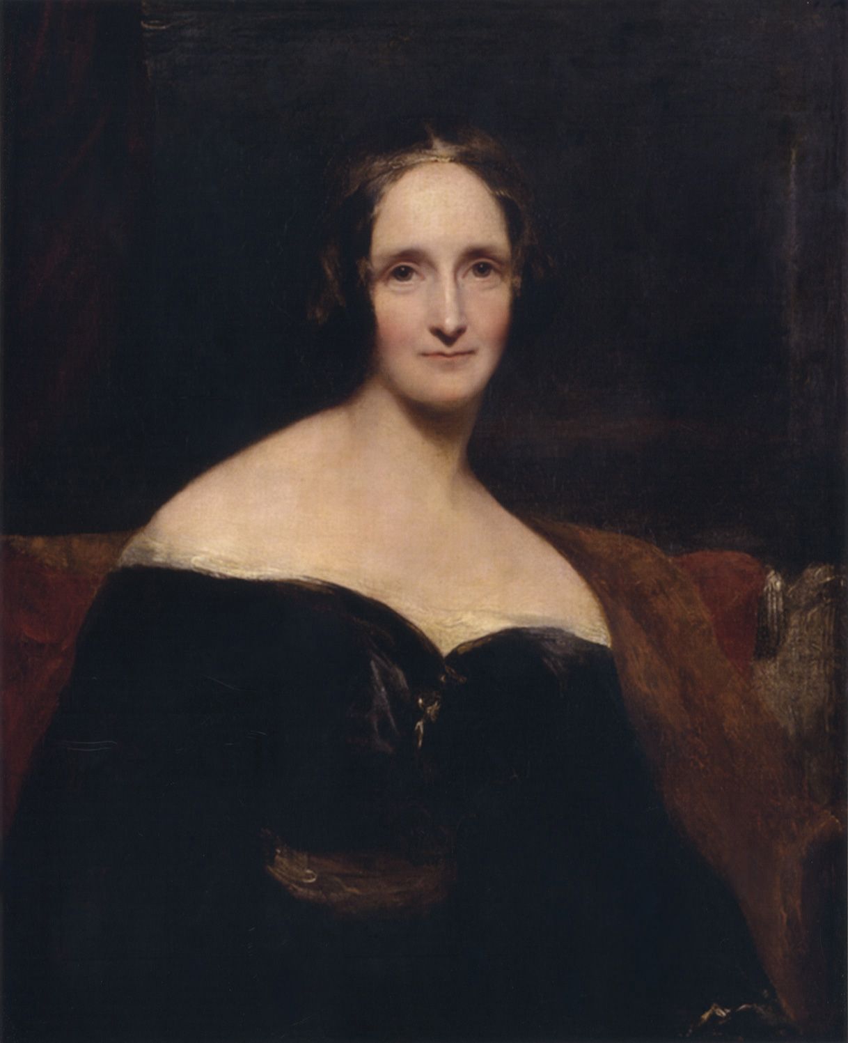 Portrait of Mary Shelley by Richard Rothwell, 1840 (via    Wikimedia Commons   )