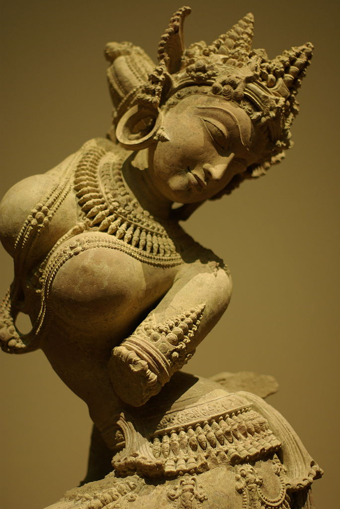 An apsara (via    Wikipedia   )