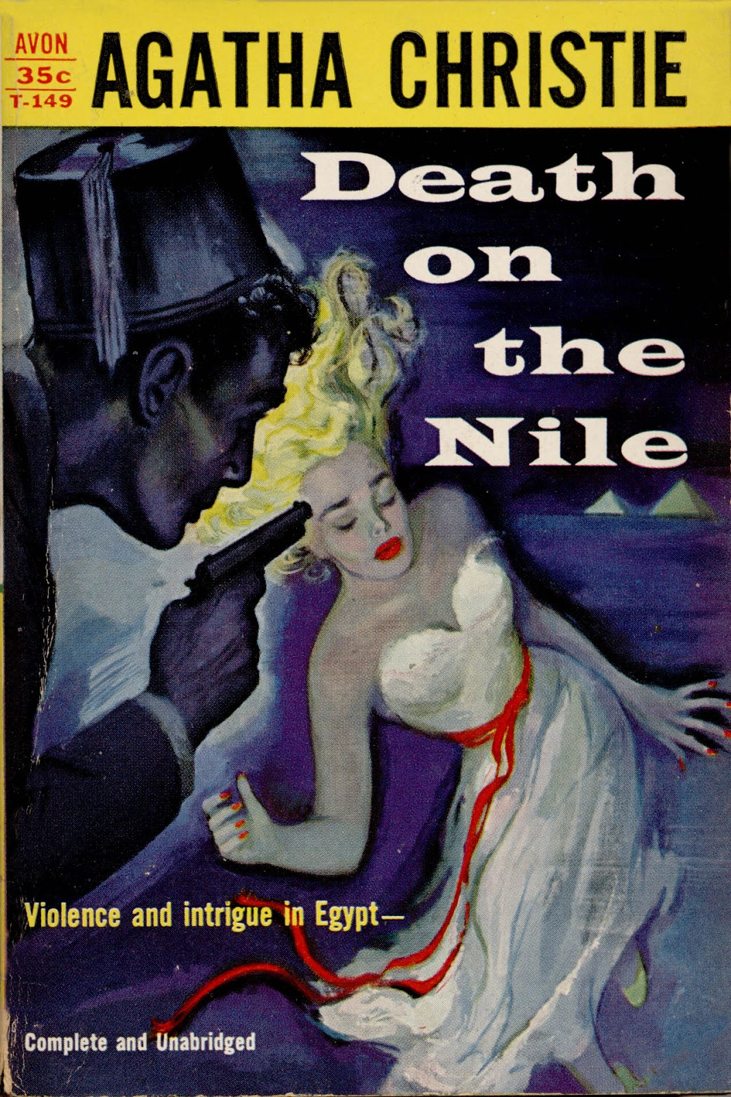 Death on the Nile   by Agatha Christie (via    Pulp Covers   )