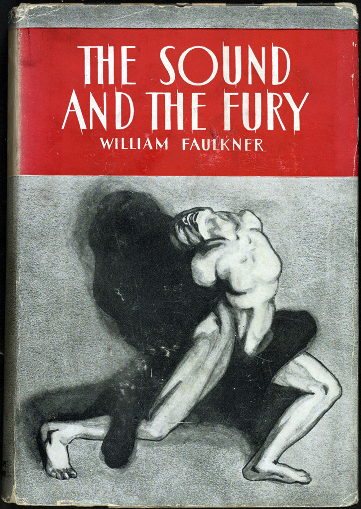 First edition cover of   The Sound and the Fury   (via    Library of Congress   )