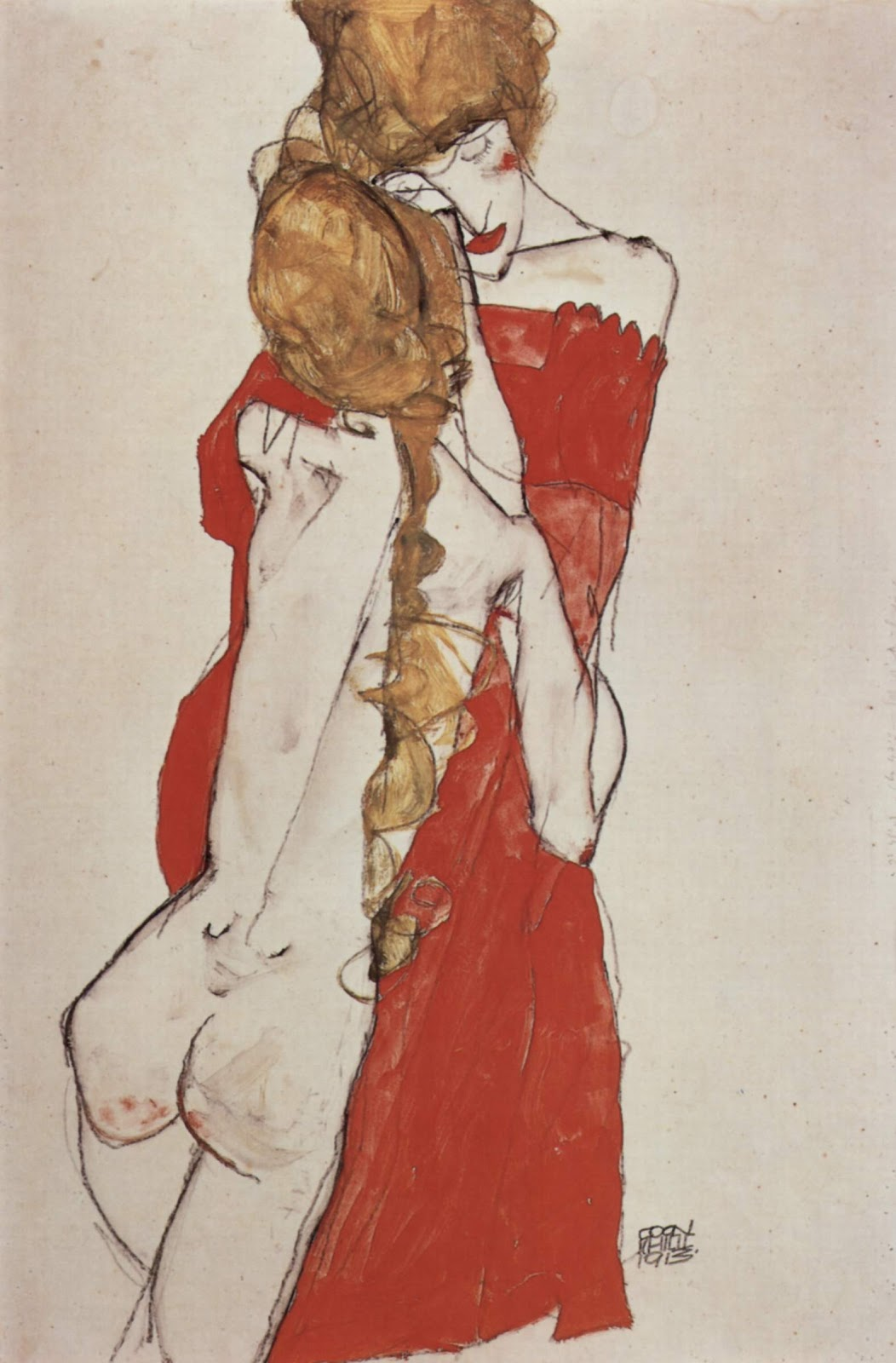 """""""Mother and Daughter"""" by Egon Schiele (via    Wikimedia Commons   )"""