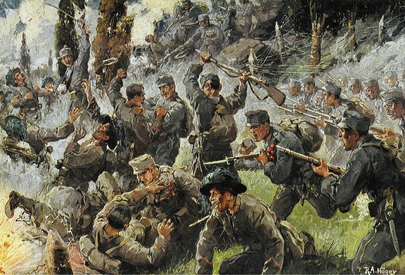 """The Battle of Doberdo"" by R. A. Hoger (via    Wikipedia   )"