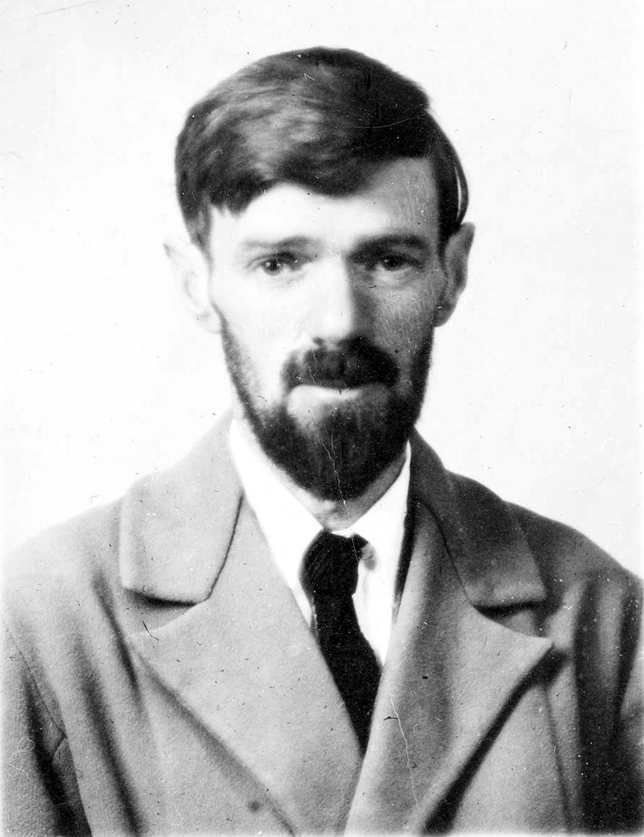 Passport photo of D. H. Lawrence (via    Wikipedia   )