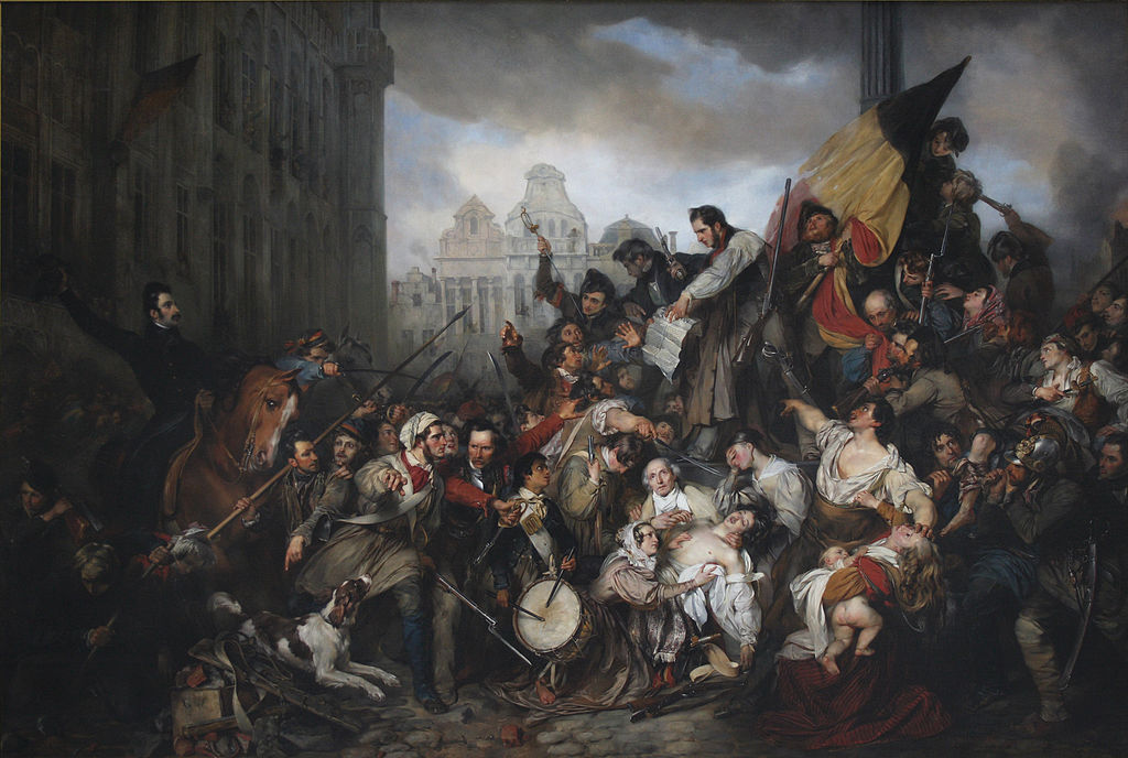"""""""Episode of the September Days 1830"""" by Egide Charles Gustave Wappers, 1835 (via    Wikipedia   )"""