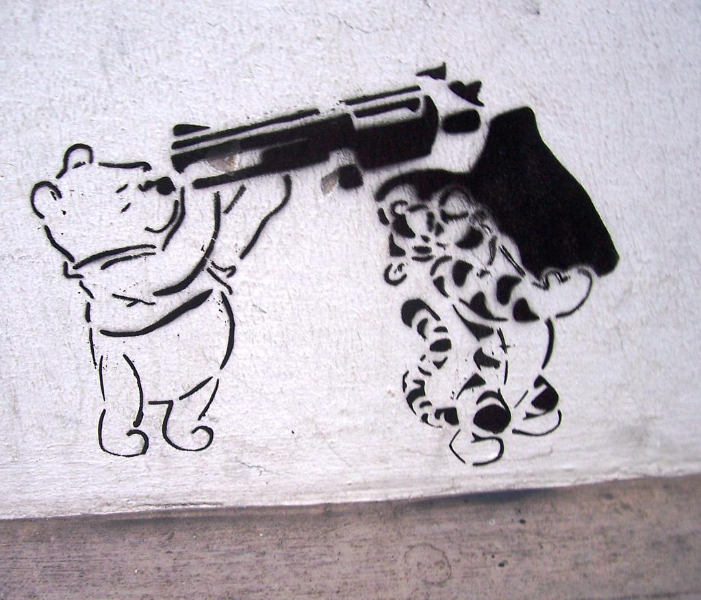 Winnie-the-Pooh   graffiti (via    Flickr   )
