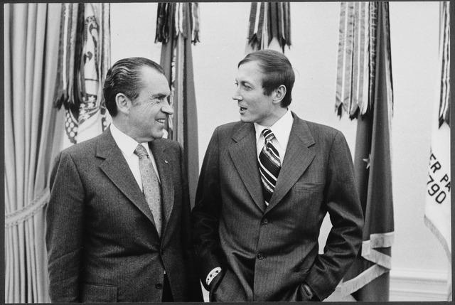 Richard Nixon and Yevgeny Yevtushenko, 1972 (via    Wikipedia   )