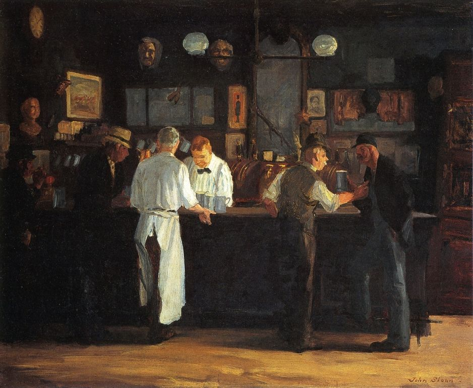 """McSorley's Bar"" by John Sloan, 1912 (via    Wikipedia   )"