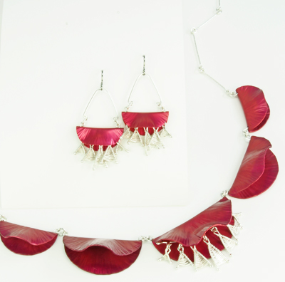 one-of-a-kind necklace with matching earrings