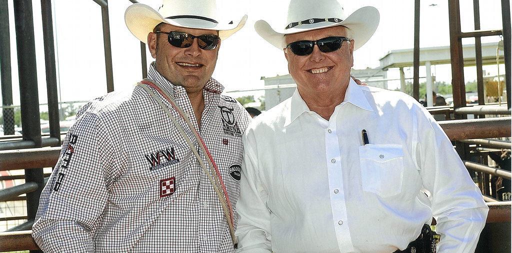 Cody Ohl and Sid Miller at the 2009 Roping Fiesta - San Angelo, Texas
