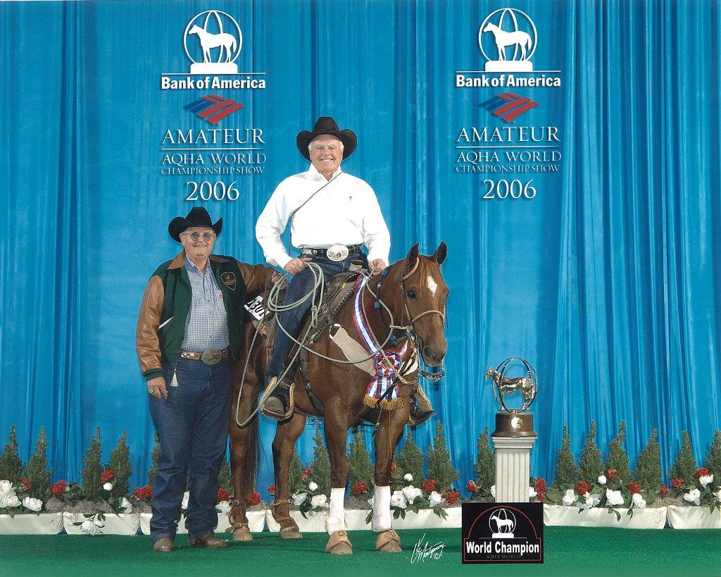 Sid Miller captures the 2006 Amateur Tie-Down Roping World Title on Big Smokin Wonder