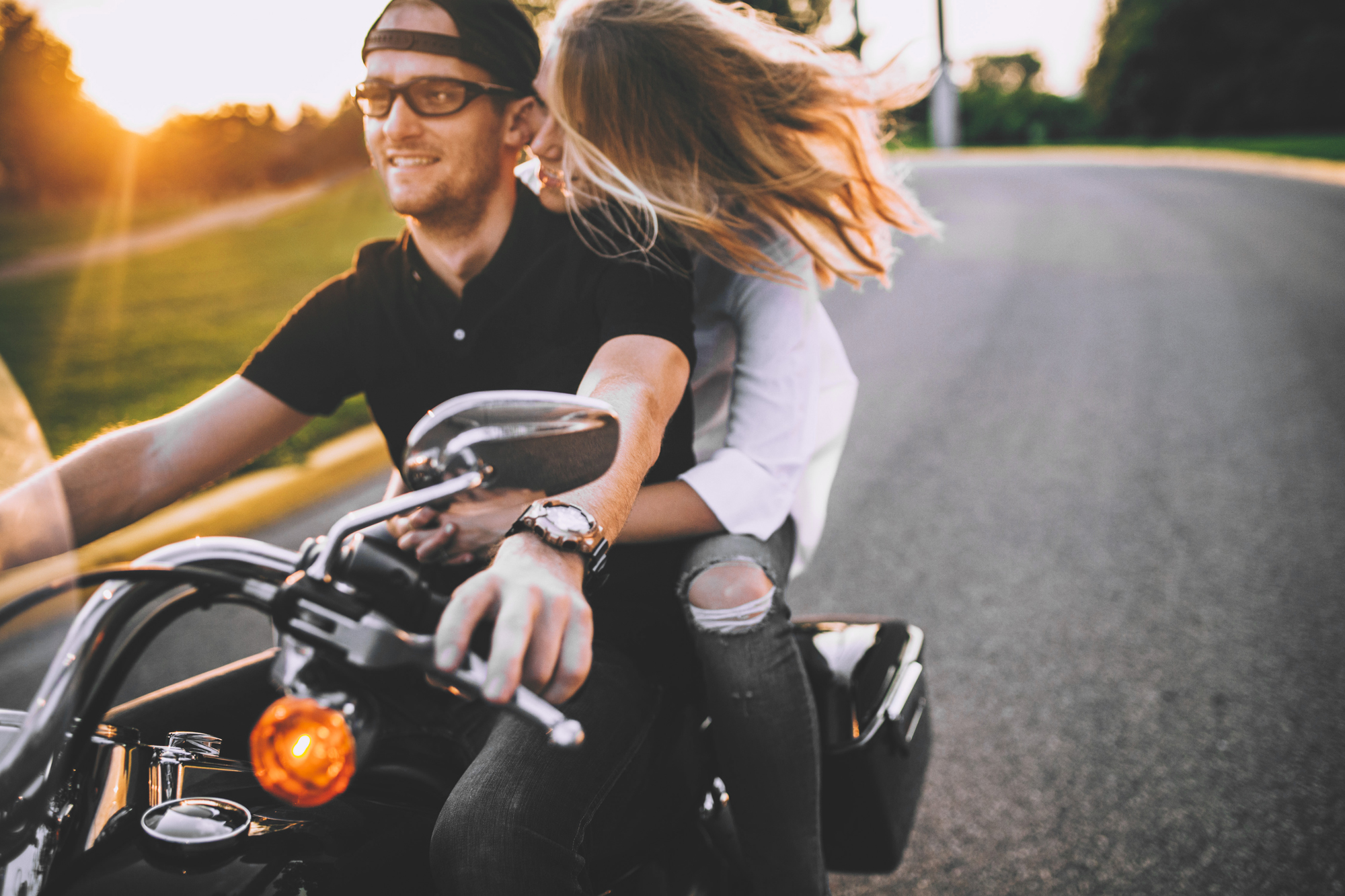 Brandon werth minnesota wedding photographer motorcycles engagement session minneapolis harley davidson