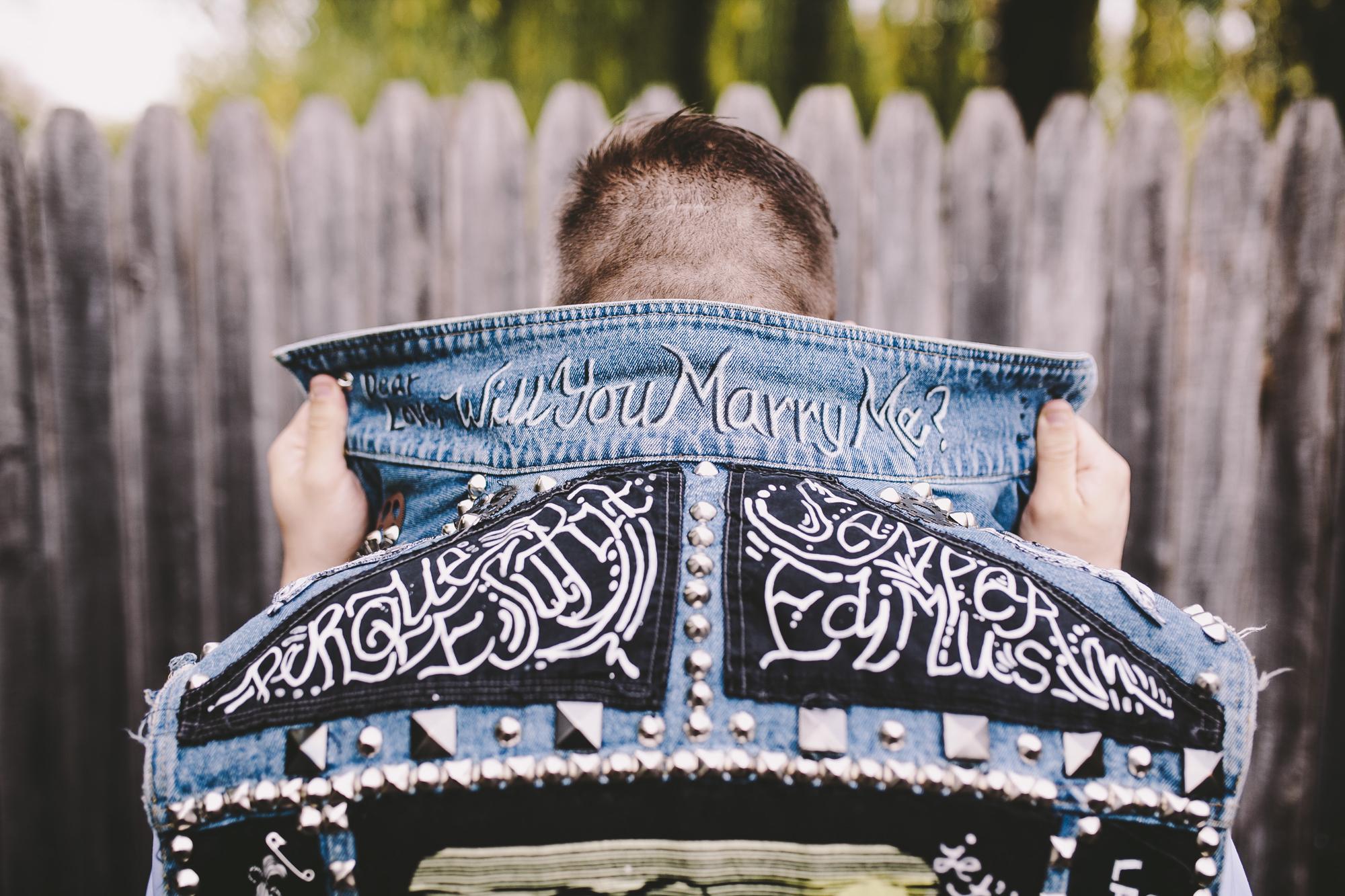Brandon werth minnesota wedding photographer rock n roll bride punk minneapolis will you marry me custom