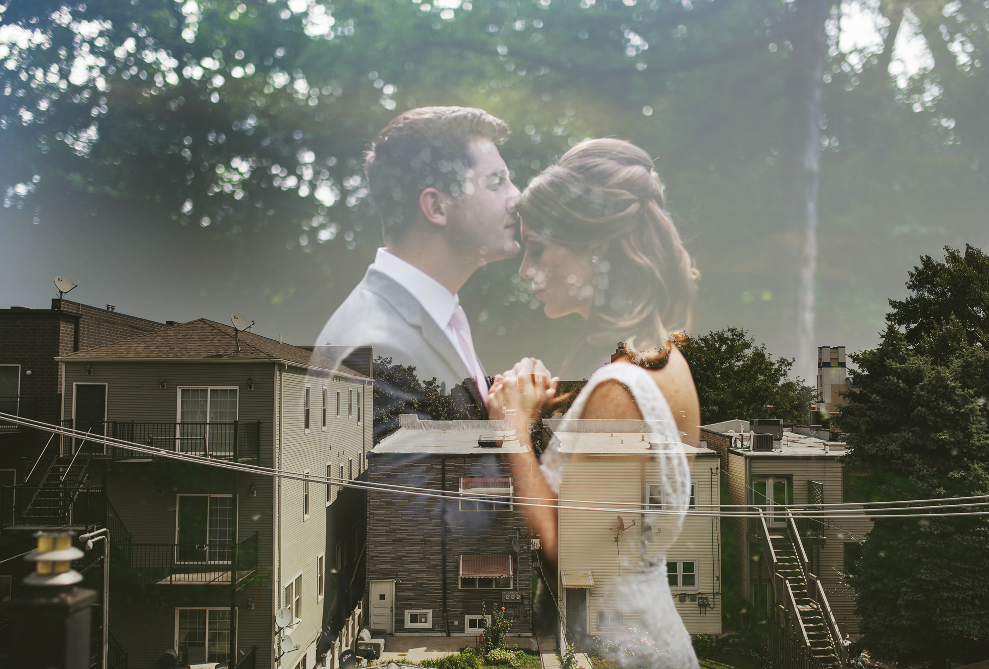 Brandon werth chicago wedding photographer double exposure