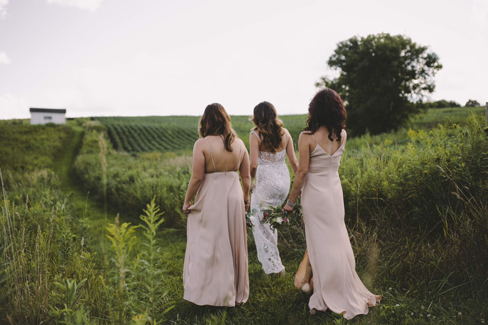 Brandon werth wisconsin wedding photographer enchanted barn small wedding party nature