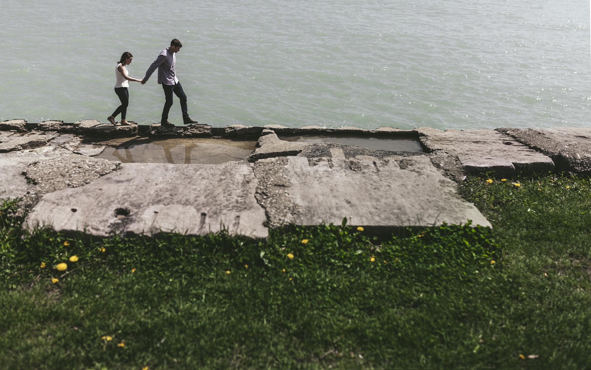 Brandon werth minnesota wedding photographer chicago montrose beach engagement session
