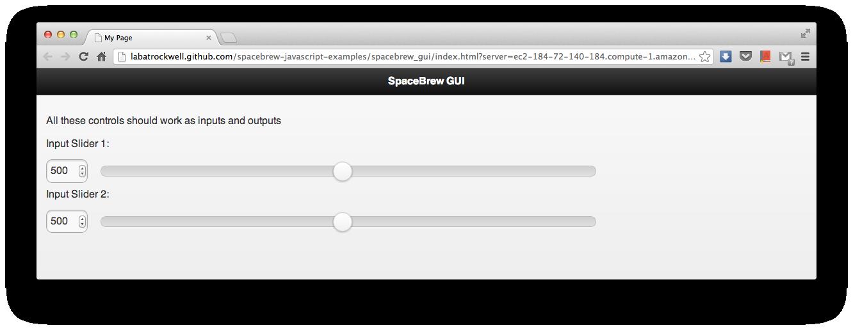 Example Javascript GUI