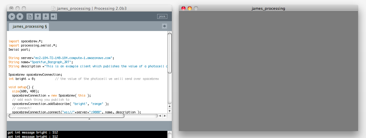The background of your processing sketch will also change when the GUI slider is moved.