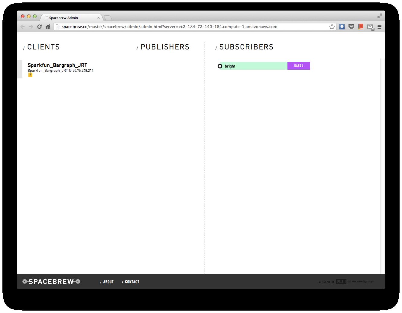 "SparkFun kit as ""Sparkfun_Bargraph_JRT"" client in Spacebrew"