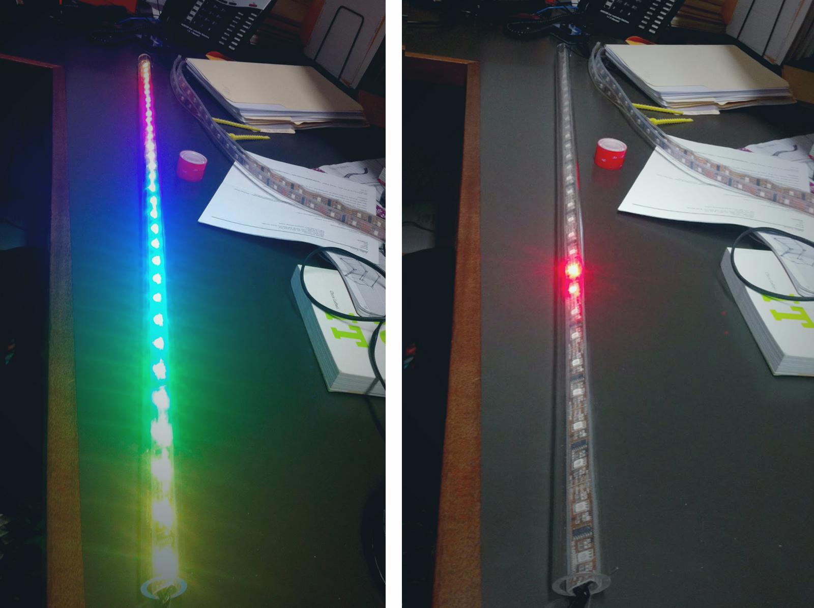 Tubular Glow: Control a Meter Long RGB LED Bar Graph by Javascript