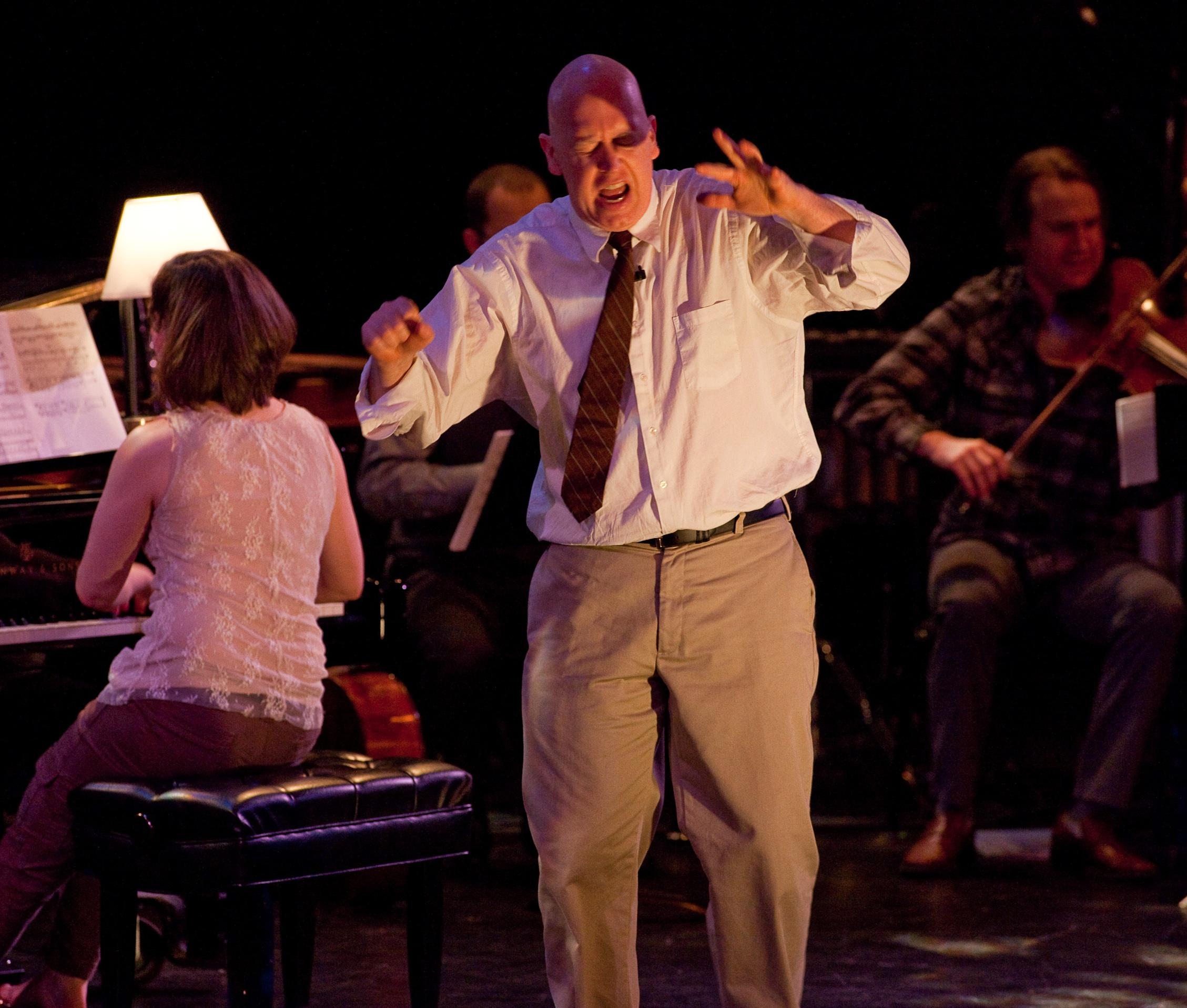 Rinde Eckert performs in  Slide
