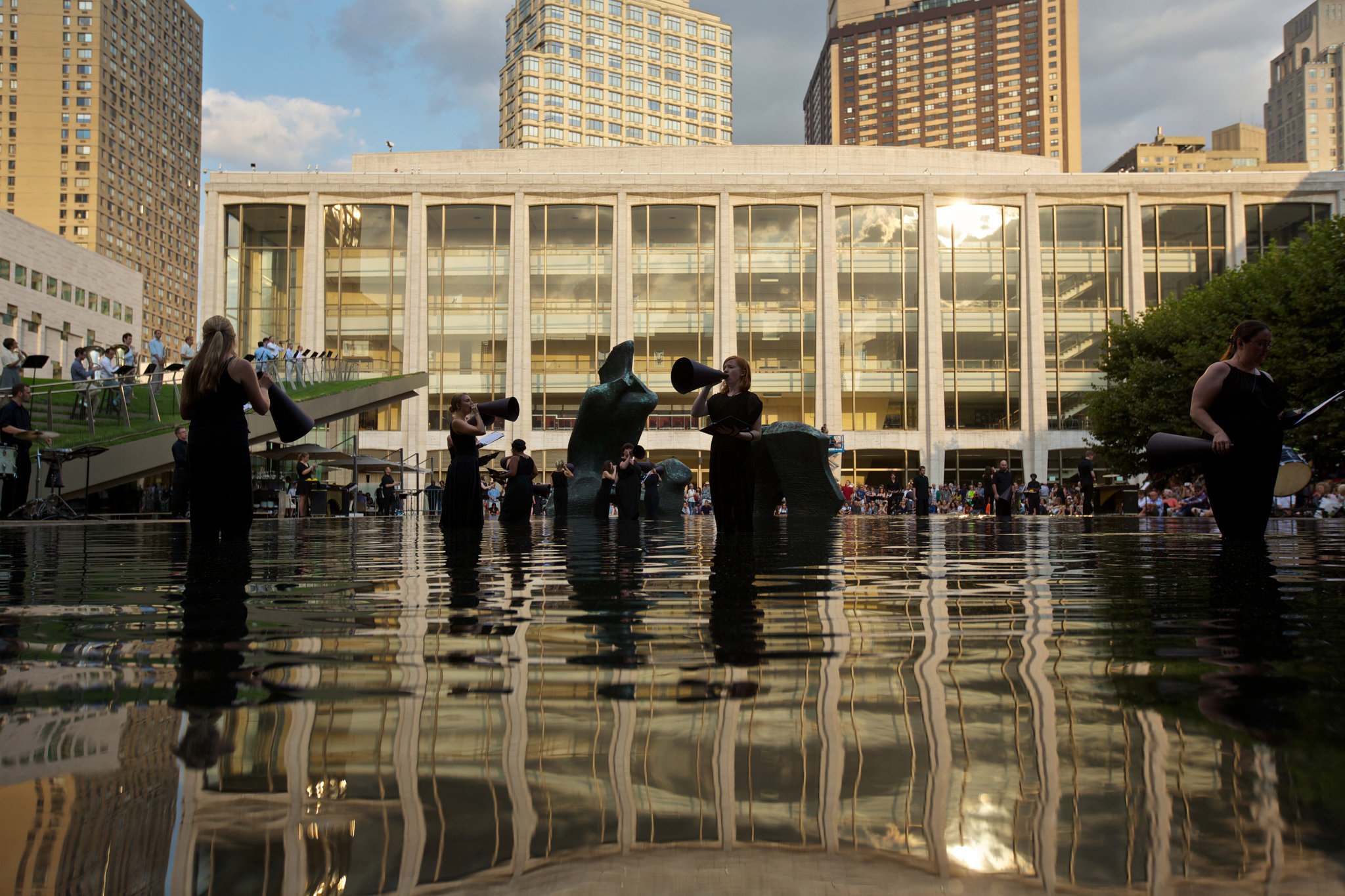 Reflecting Pool During Performance
