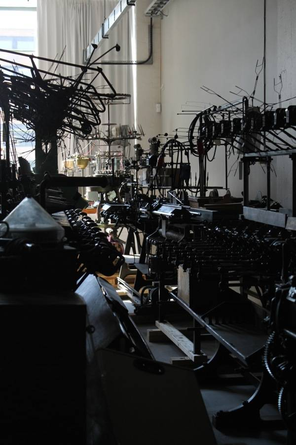 the museum has a very large collection of textile mills and weaving machines
