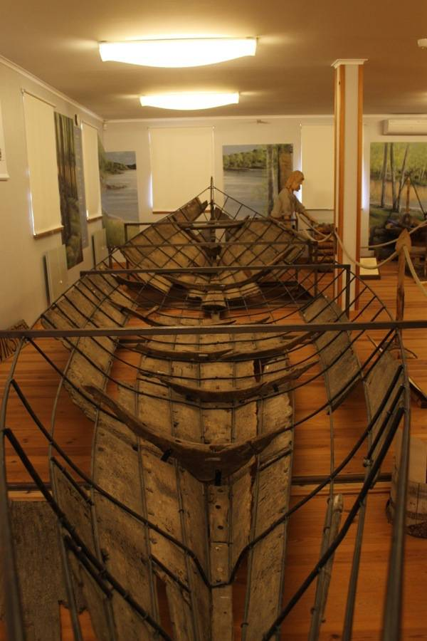 This is the best preserved Viking era boat in all of Sweden. Pretty cool. Boats like this were sailed to Russia during the viking era.