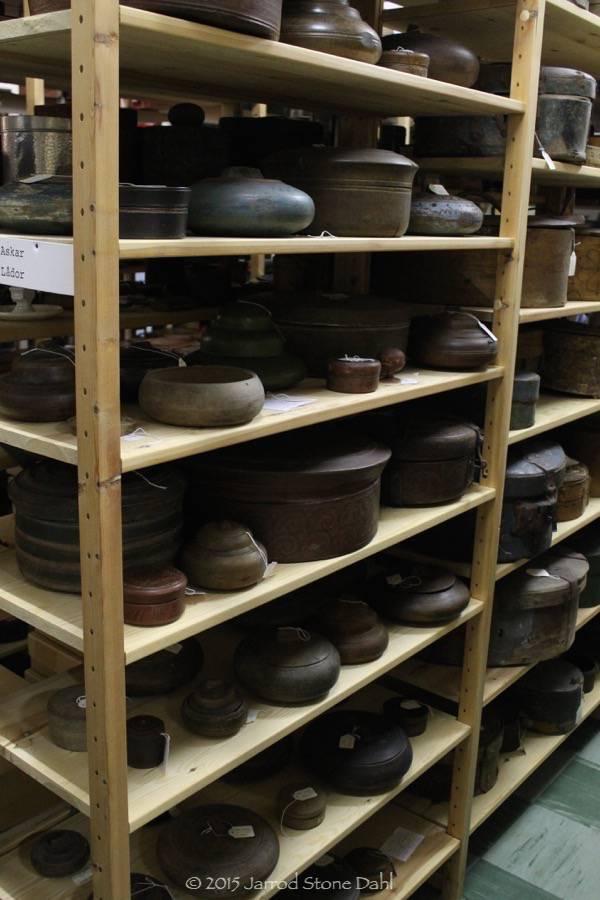 shelves and shelves of them