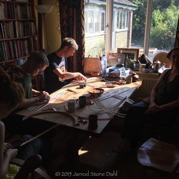 Morning weaving at Robin's house