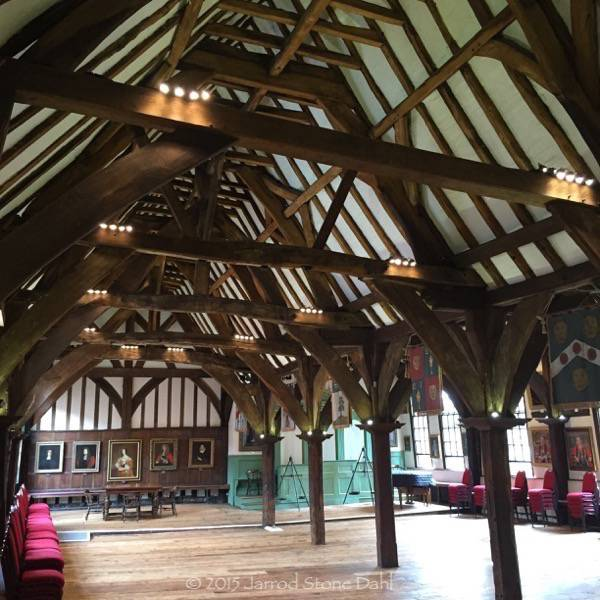 Very old timber guild hall in York