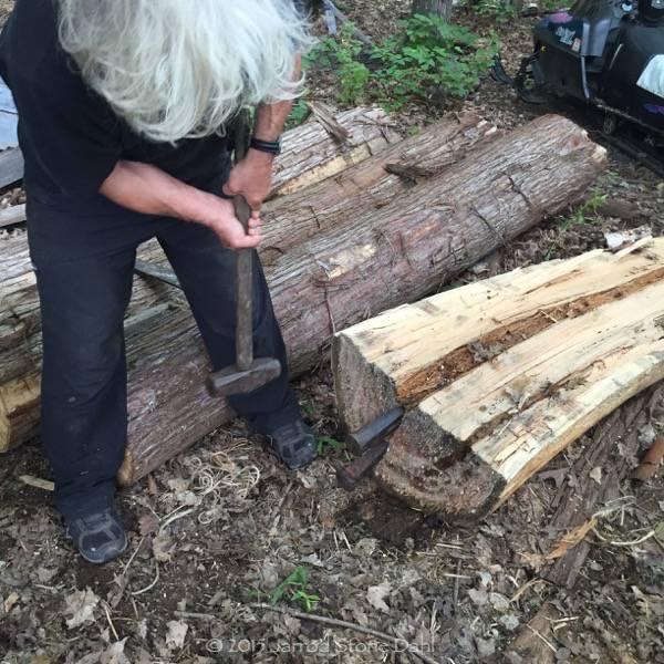 Bob splitting cedar