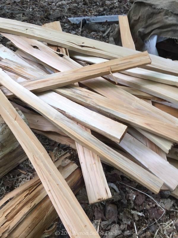 Cedar ribs rough split