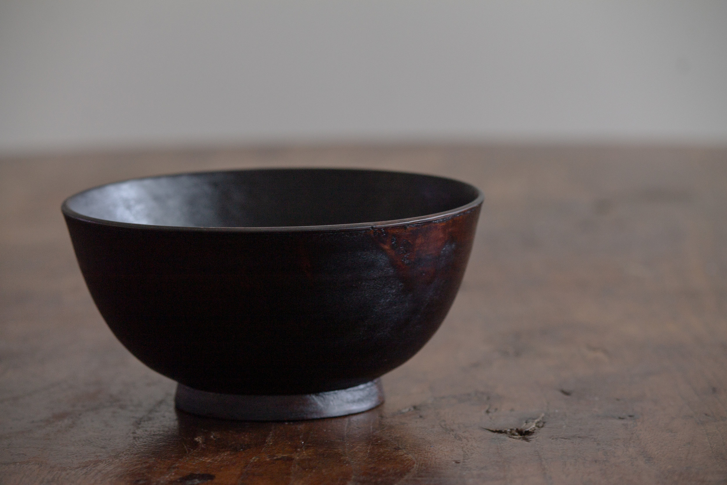 One of my bowls finished with urushi lacquer.
