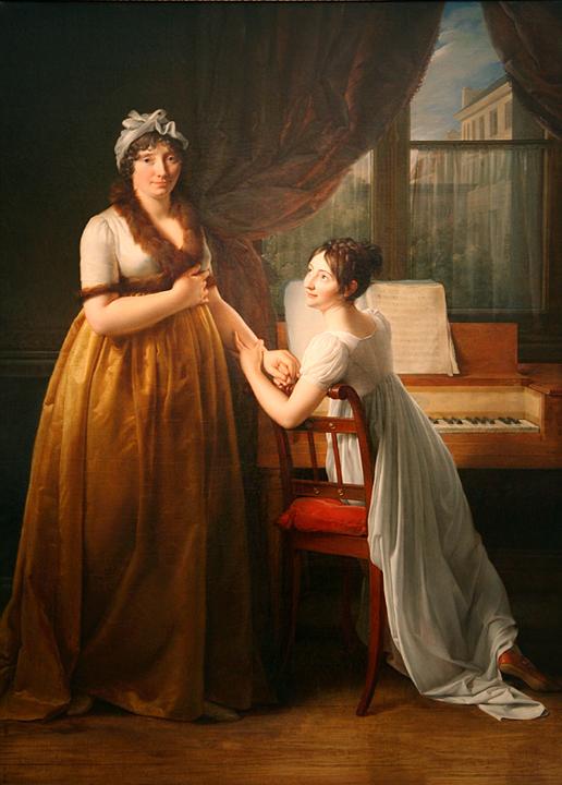 Comtesse de Morel-Vinde and her Daughter (The Music Lesson)  1799, Baron Francois-Pascal-Simon Gerard