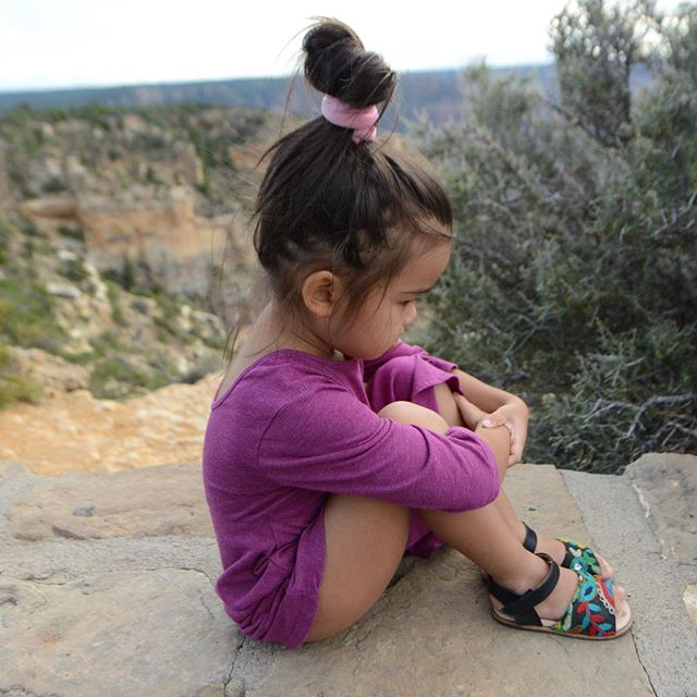 Four-year-old contemplation.