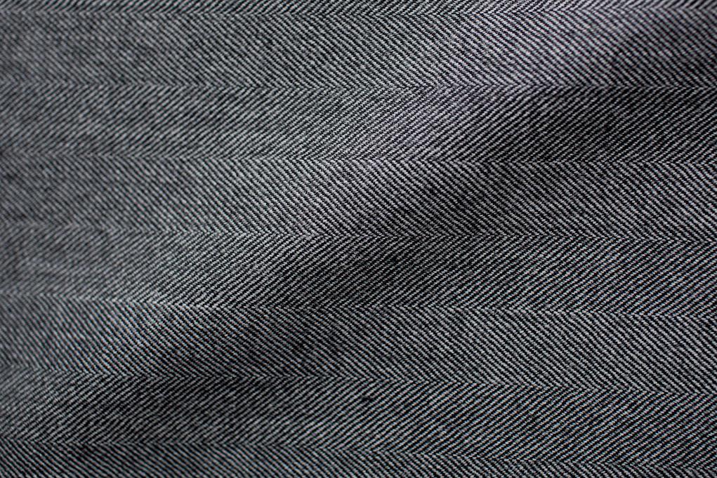 Dark Grey Herringbone