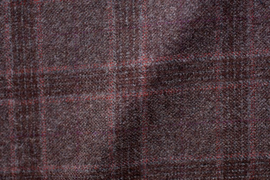Burnt Brown Checkered Tweed