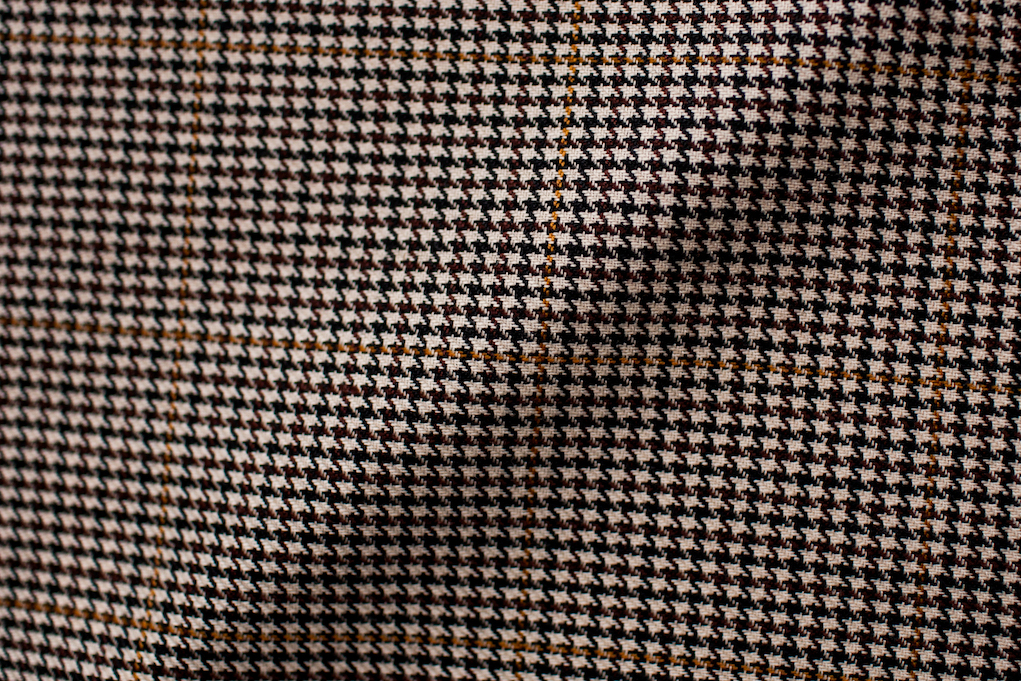 Brown Windowpane Houndstooth Tweed