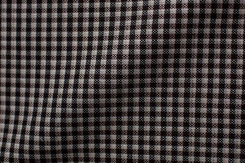 Brown Gingham Tweed