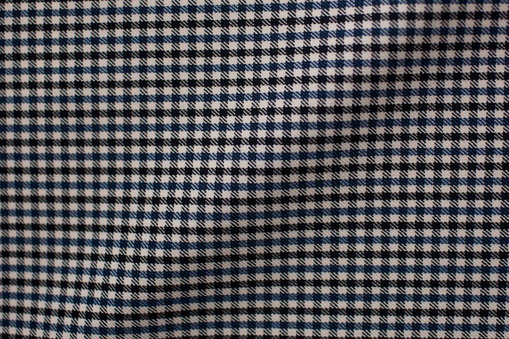 Blue Mini Gingham Tweed
