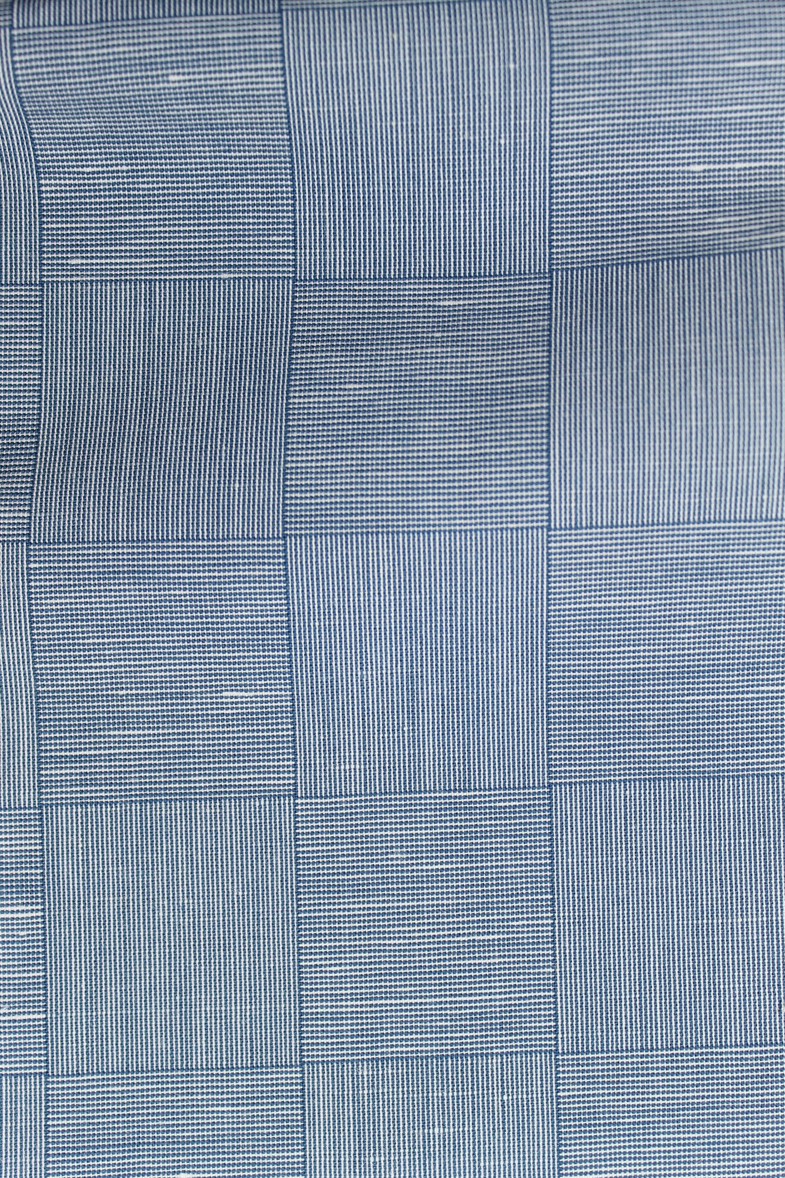L127 Blue Checkerboard Cotton Twill.JPG