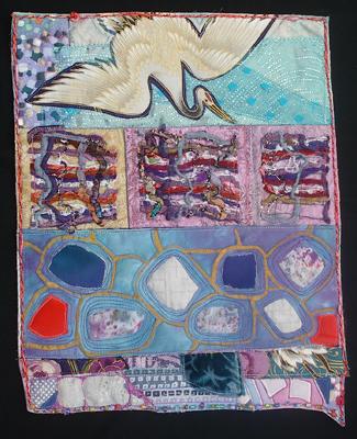 Flight Over Stone Pond (quilt) | Cindy Rinne