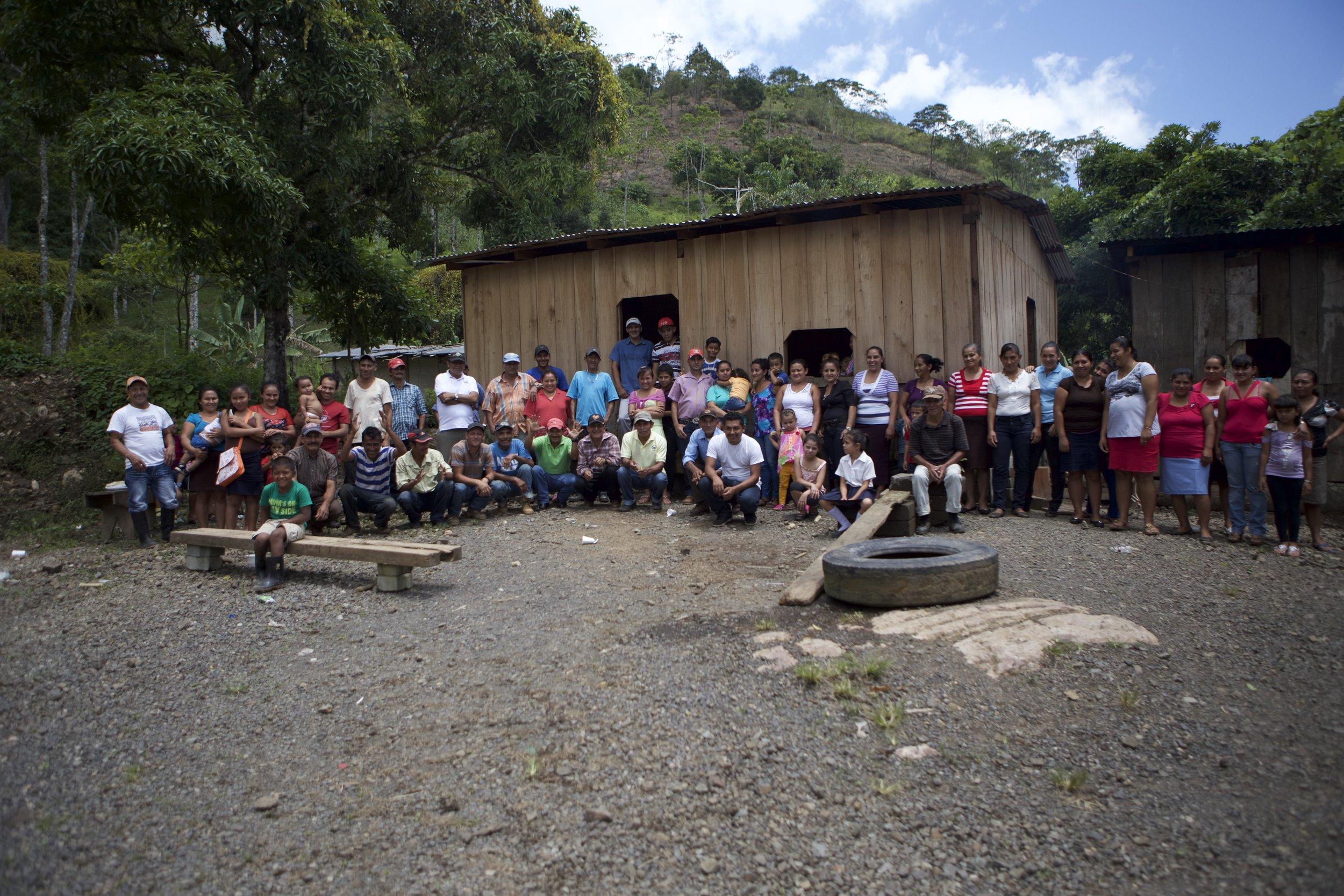 Proud community of farmers in Nicaragua